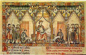 Miniatura de Las Siete Partidas (Alfonso X el ...