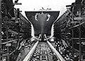 Launch of USS Guadalcanal (CVE-60) at Kaiser Shipyards on 5 June 1943.jpg