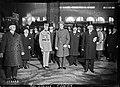 Le prince Léopold de Belgique à la gare du Nord (avec, à sa gauche, M. Gaiffier d'Hestroy) - (photographie de presse) - (Agence Rol).jpg