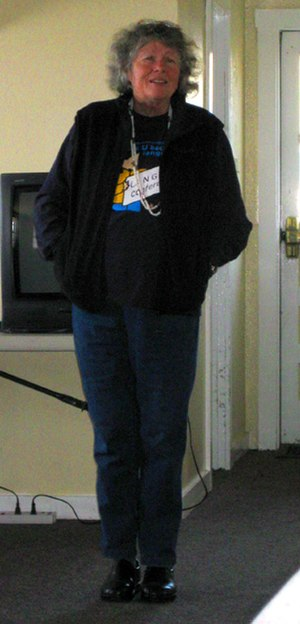 Leanne Hinton - Leanne Hinton speaking at an Advocates for Indigenous California Language Survival conference, 2008