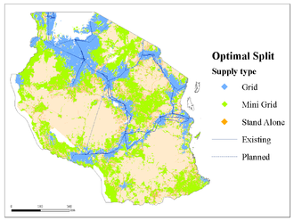 Open energy system models - A least-cost electrification mapping for Tanzania