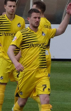 Lee Mansell - Mansell playing for Bristol Rovers in 2016