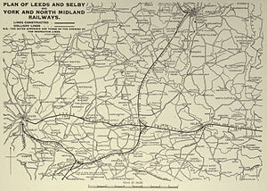 George Hudson - Leeds and Selby, York and North Midland railway maps
