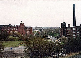 Lees, Greater Manchester - The Industrial Revolution brought cotton spinning to Lees in the form of eleven textile mills, changing the character of the village completely.