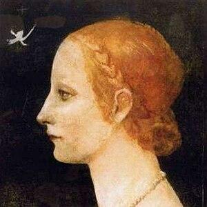 Lucrezia Crivelli - Image: Leonardo da Vinci (attrib) Profile of a Young Lady (Lucrezia Crivelli)