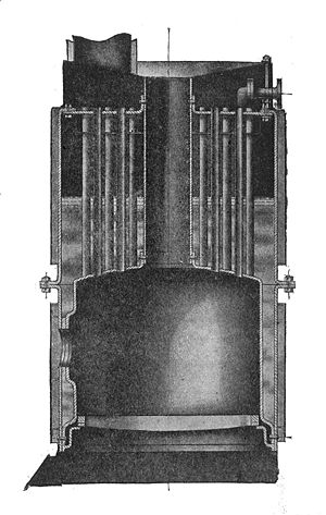 Vertical fire-tube boiler - Vertical fire-tube boiler, as used in a Leyland steam wagon