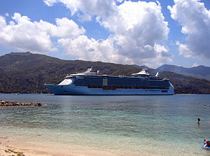 Liberty of the Seas docked in Labadee, Haiti.