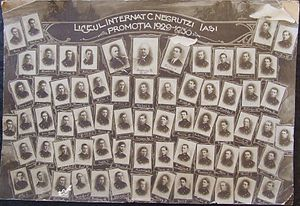 Costache Negruzzi National College - Class of 1930