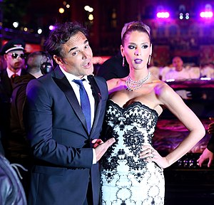 Carmen Carrera - Carrera with David LaChapelle at Life Ball 2014
