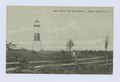 Light House, New Dorp Beach, Staten Island, N.Y. (beacon on wooden supports, man walking in meadow) (NYPL b15279351-104868).tiff
