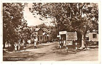 Timeline of Lilongwe - Image: Lilongwe, Nyasaland