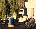 Linda Dishman speaking at Hollyhock House re-opening 2015-02-13.jpg