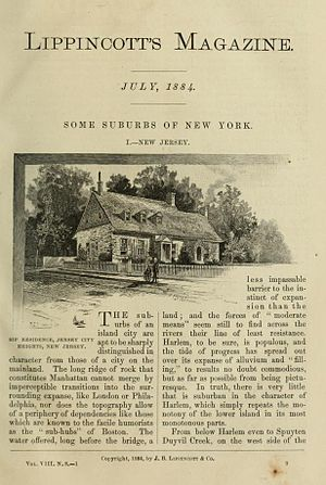 Lippincott's Monthly Magazine - One page of the issue dated July 1884, apparently as Vol. VIII, No. 8