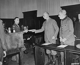 Kragujevac massacre - Wilhelm List is handed the indictment in the Hostages Trial, 12 May 1947