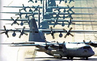 19th Airlift Wing - 19th Airlift Wing C-130 Hercules aircraft at Little Rock AFB