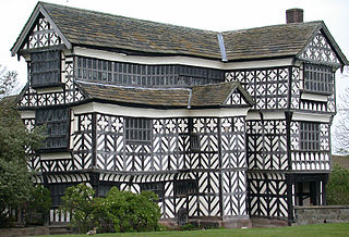 Little Moreton Hall Moated half-timbered manor house near Congleton in England, built between about 1504 and 1610.