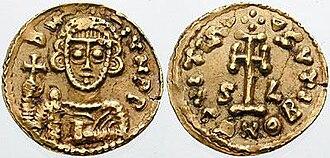 Liutprand of Benevento - A tremissis of Liutprand, from the regency of Scauniperga