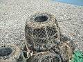 Lobster pots at Beer, Devon.JPG