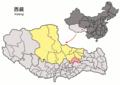 Location of Lhari within Xizang (China).png