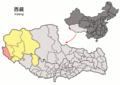 Location of Zanda within Xizang (China).png