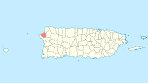 Location of Aguada in Puerto Rico