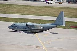 Lockheed KC.130T of the U.S. Marine Corps. coded QH at Stuttgart-STR (7822186500).jpg