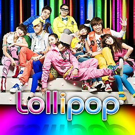 Обложка сингла 2NE1 и Big Bang «Lollipop» (2009)