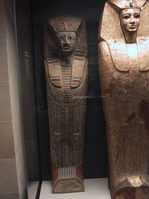 Rishi coffin - Rishi coffins of two 17th Dynasty pharaohs, Sekhemre-Heruhirmaat Intef (left) and Sekhemre-Wepmaat Intef (right).