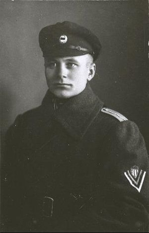 Otto Tief - Lieutenant Otto Tief in the Estonian Army during the Estonian War of Independence, 1919.