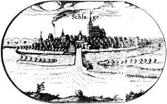 Sławno - Schlawe about 1618