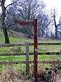 Ludgershall Roman Villa, Public footpath Sign - geograph.org.uk - 1156322.jpg
