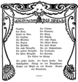 Ludwig Thuille - Gugeline - character list from the original text book - Berlin 1899.png
