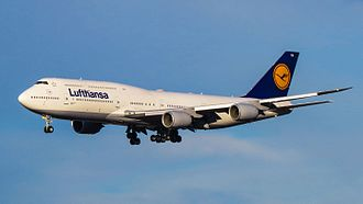 Boeing 747-8 - A Boeing 747-8I of Lufthansa, the type's launch customer and largest operator