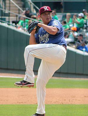 Luis Ortiz (pitcher) - Ortiz with the Frisco RoughRiders in 2016