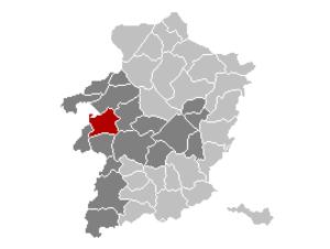 Lummen - Image: Lummen Limburg Belgium Map