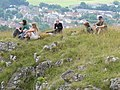 Lunch above Cheddar Gorge for the work party. - geograph.org.uk - 927011.jpg