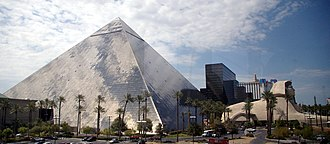 Luxor Las Vegas - View of the pyramid also showing the east ziggurat tower