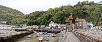 Lynmouth port vue ville.jpg