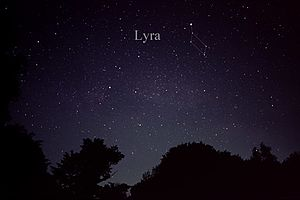 Lyra - The constellation Lyra as it can be seen by the naked eye.