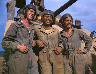 United States Office of War Information - M-4 tank crew. OWI photo, 1942.