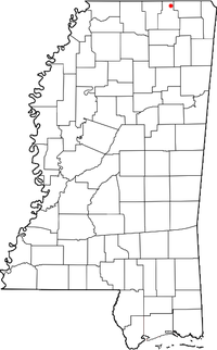 Location of Chalybeate, Mississippi