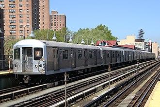 R42 (New York City Subway car) - Image: MTA NYC Subway J train at Marcy Ave