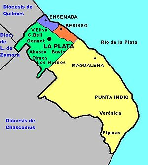 Roman Catholic Archdiocese of La Plata in Argentina - Image: Ma pa