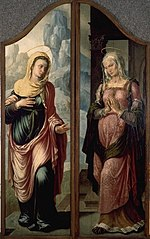 Visitation, Virgin and Elisabeth