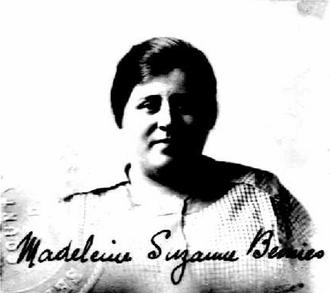 Charles Bemies - Bemies' second wife, Madeleine, in 1920.