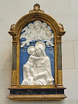 Madonna and Child with God the Father and Cherubim, workshop of Andrea della Robbia, c. 1480, glazed terra cotta - National Gallery of Art, Washington - DSC08821.JPG