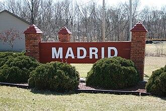 Madrid, Iowa - Image: Madrid Iowa 20090329 Sign