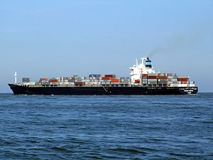 Maersk Dauphin p4, leaving Port of Rotterdam, Holland 10-Sep-2006.jpg