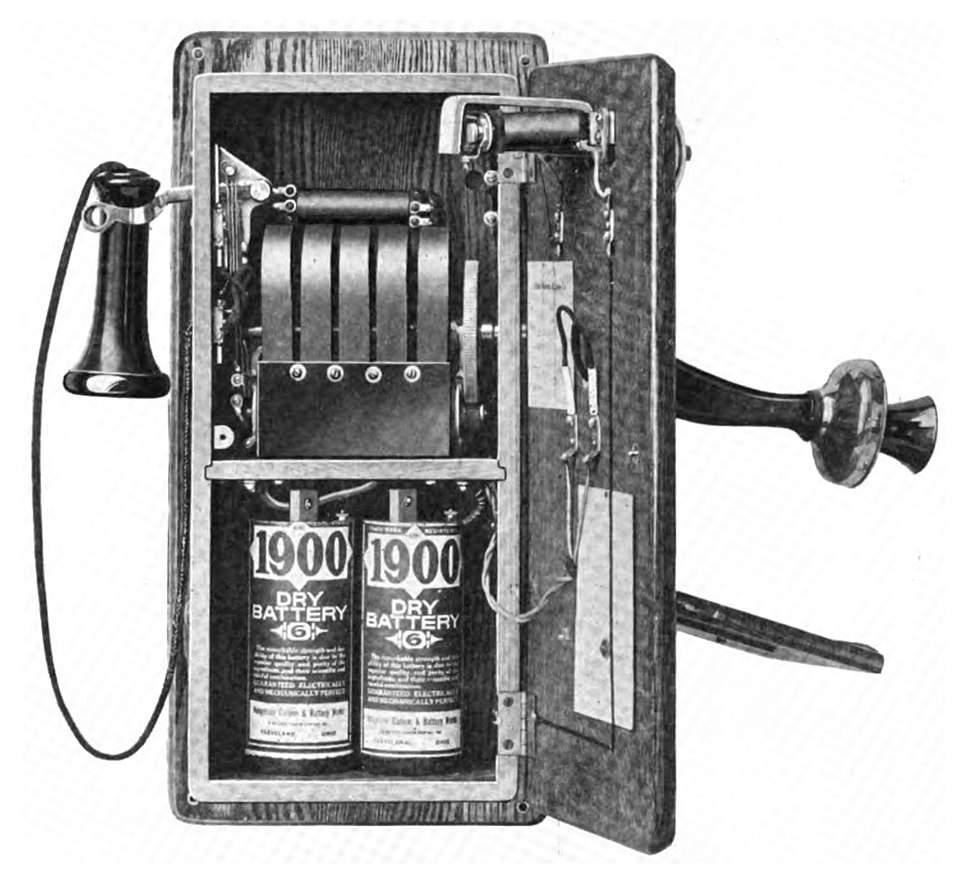 Magneto wall telephone 1917 open