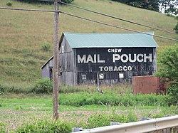 Mail Pouch Tobacco Barn on U.S. Route 62